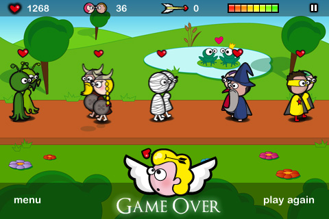 Screenshot Cupid at work lite – Valentine's day game